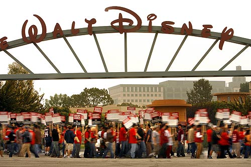 The picket line at Walt Disney Studios