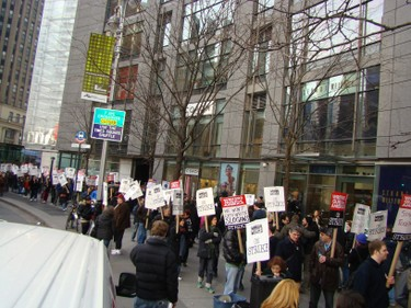 Time Warner Center picket
