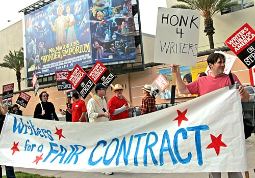 The Picket line at FOX Studios