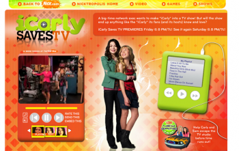 The iCarly Saves TV Website