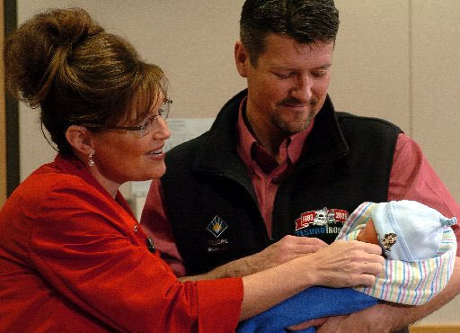 Sarah Palin, Todd Palin, and Baby Trig