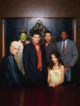 The cast of Angel