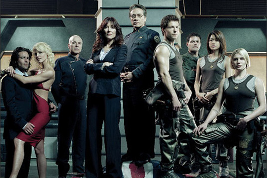 The cast of Battlestar Galactica
