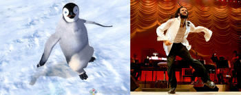 Savion Glover as the \'Stunt Double\' in Happy Feet
