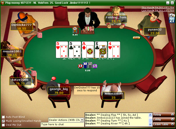 party poker games online