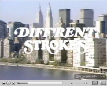 Different Strokes on MySpaces Minisode Network, featuring five-minute long edited episodes of kitchy programs