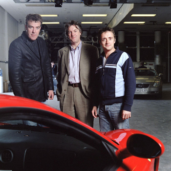 Top Gear hosts Jeremy Clarkson, James May and Richard Hammond