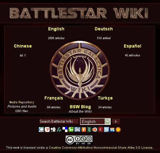 Battlestar Wiki front page
