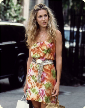 Carrie Bradshaw of Sex and the City Goes Shopping