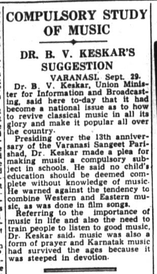 Dr. Keskar promotes classical music