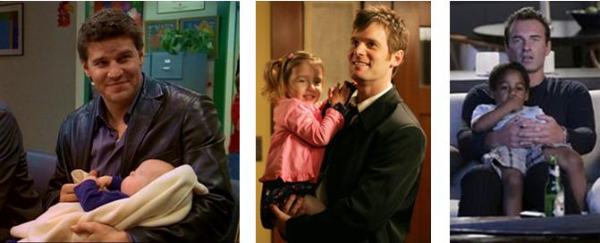 Introducing fatherhood in Angel, Six Feet Under and Nip/Tuck