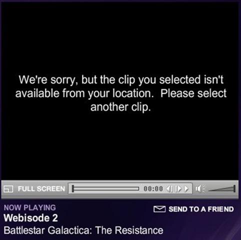 TV Clip Unavailable