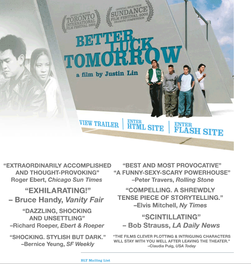 Better Luck Tomorrow website