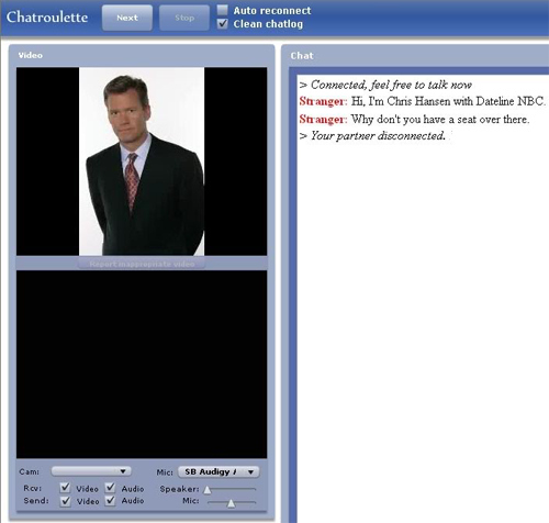 Chris Hansen on Chatroulette