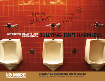 Poster for anti-gay bullying campaign by Lauren Swanson
