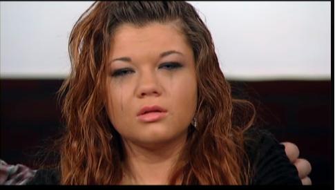 Amber cries