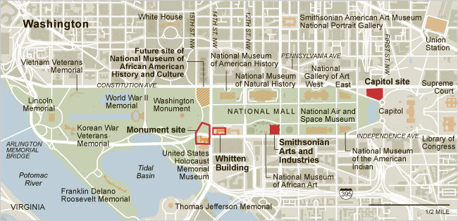 Map of National Mall