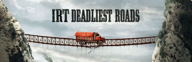 Promotional artwork for the reality TV show Ice Road Truckers: Deadliest Roads.