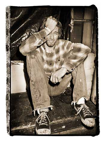 Kurt Cobain on the stairs