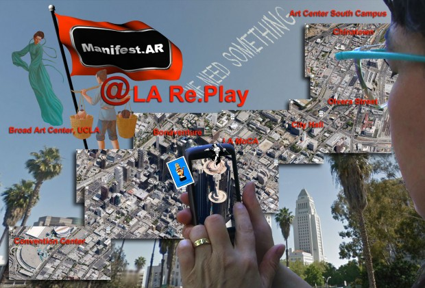 Augmented Reality walk by Manifest.AR for LA Re.Play, Los Angeles, 2012.