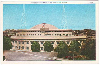 Angelus Temple in Los Angeles, California