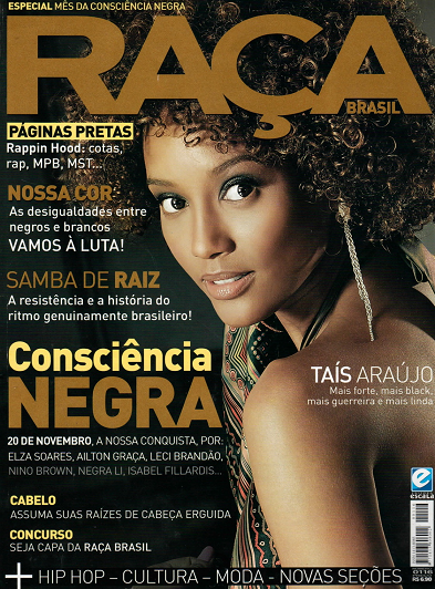 <br /> Revista Raça or Race Magazine cover width=